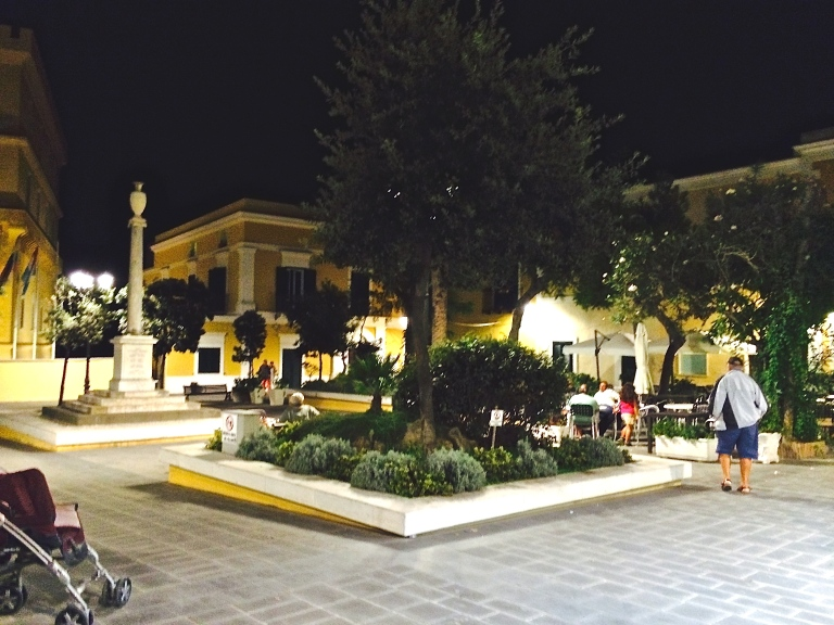 Central piazza in Ventotene