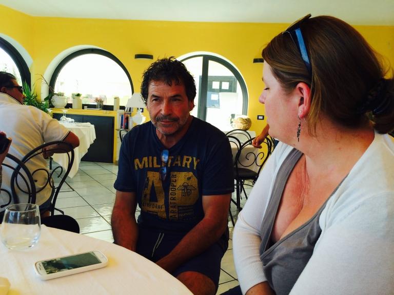 Pietro Penacchio owner of La Terazza di Mimmi restaurant in Ventotene
