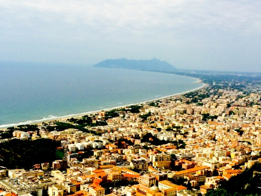Terracina and the Tyrhenean Sea from the Temple of Jupiter Anxur