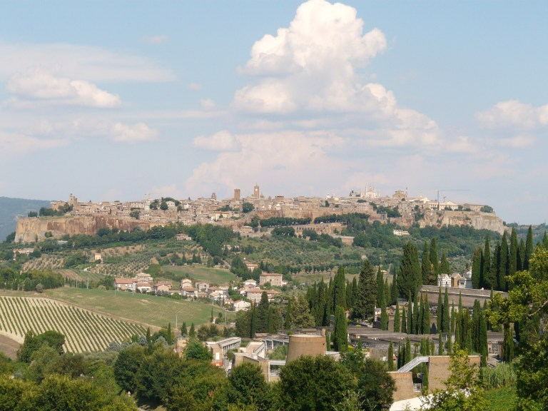 Orvieto stands on top of tufa rock