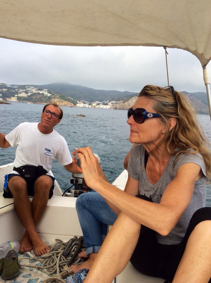 Susan in Ponza