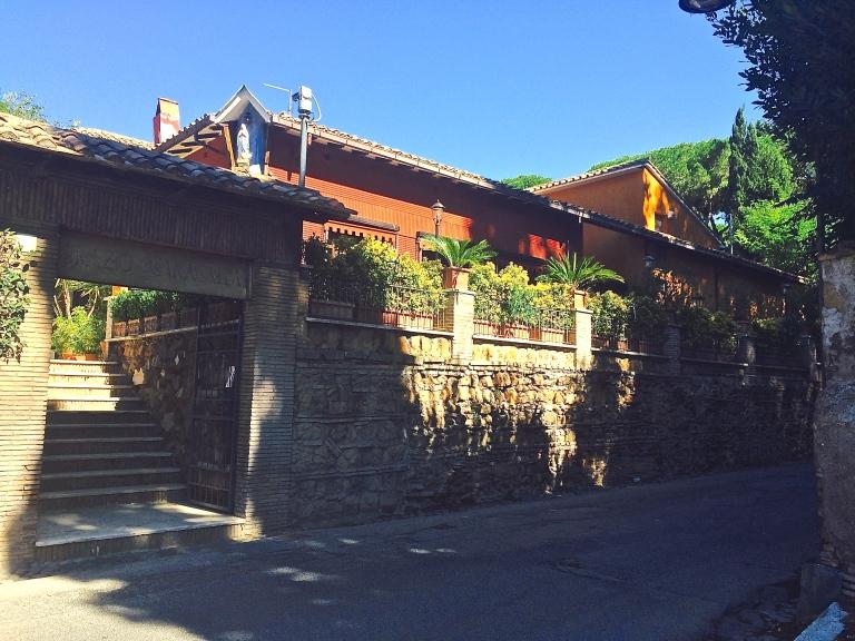 Standing on Via Latina in front of Ristorante Orazio