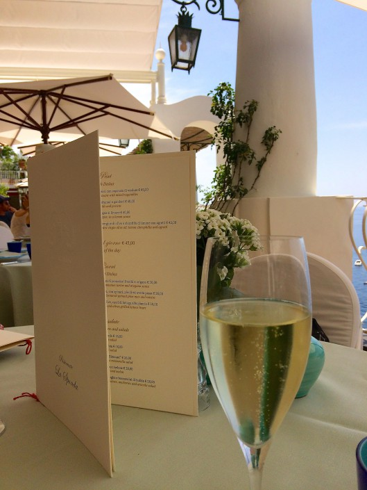 A touch of elegance at the Ristorante La Sponda in Positano