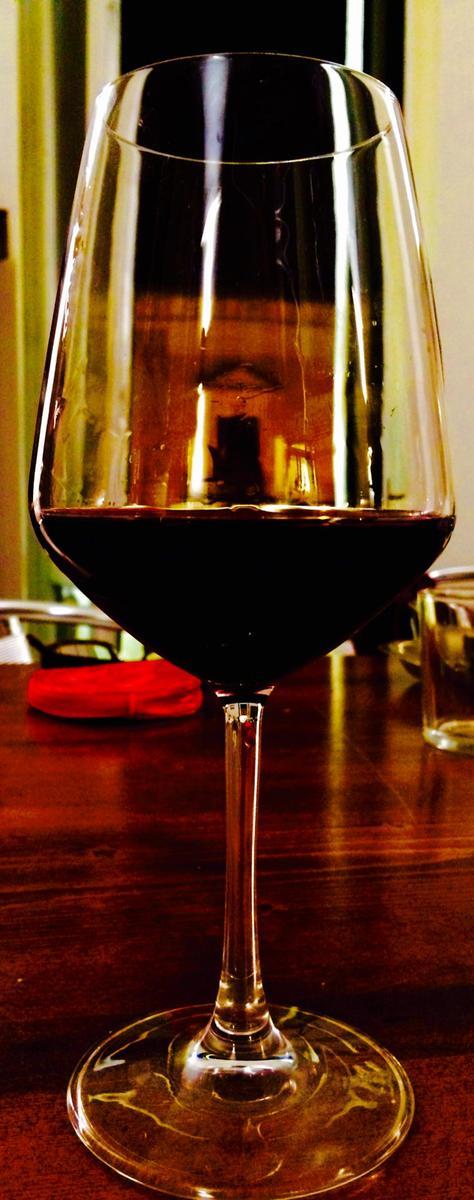 Enjoying local wines at the Puglia Wine School.