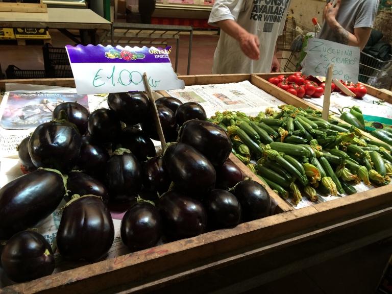 Shiny purple eggplant
