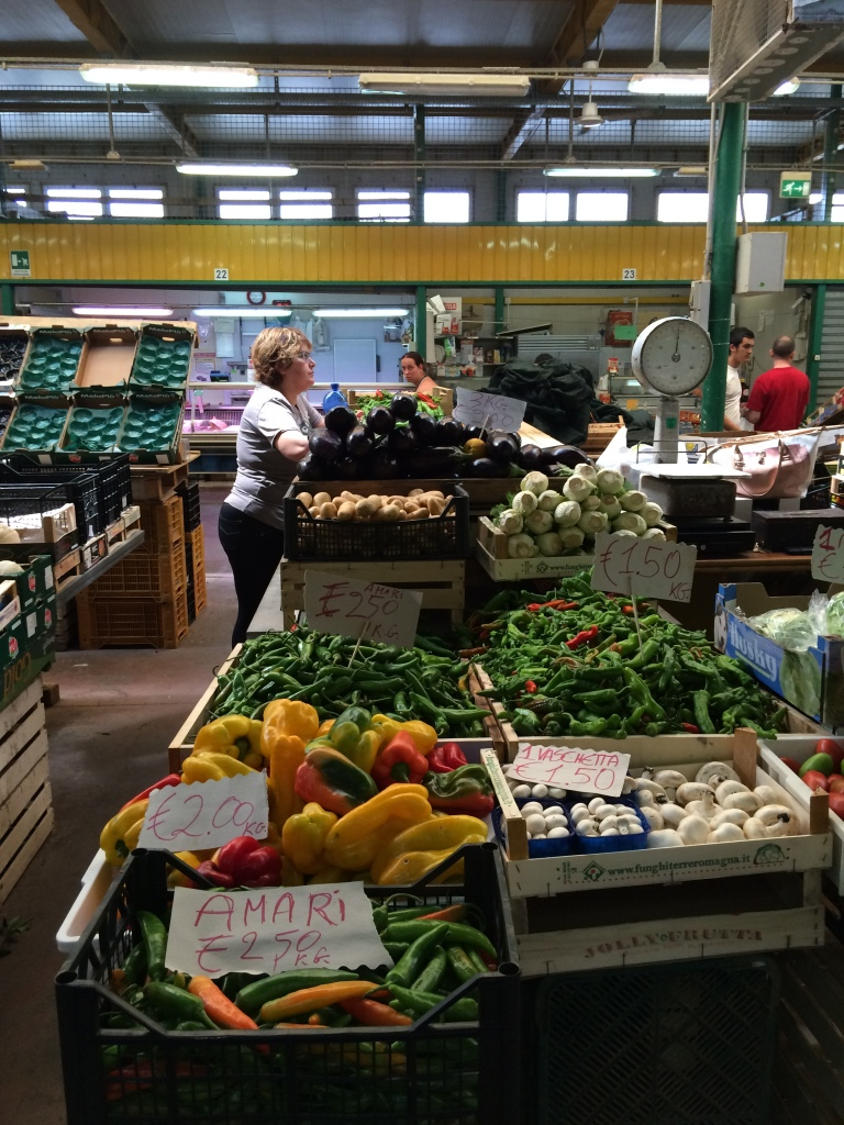Boxes and bins everywhere full of fresh picked produce