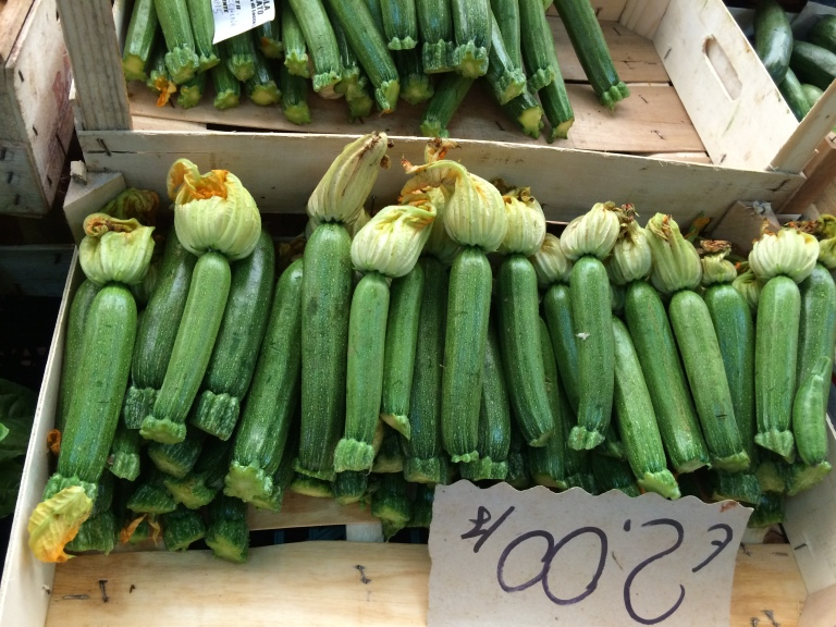 Tender small zucchini...the flowers are perfect for dipping in batter and frying