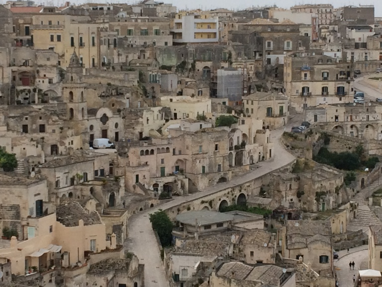 Matera, cave dwellings piled one on top of the other
