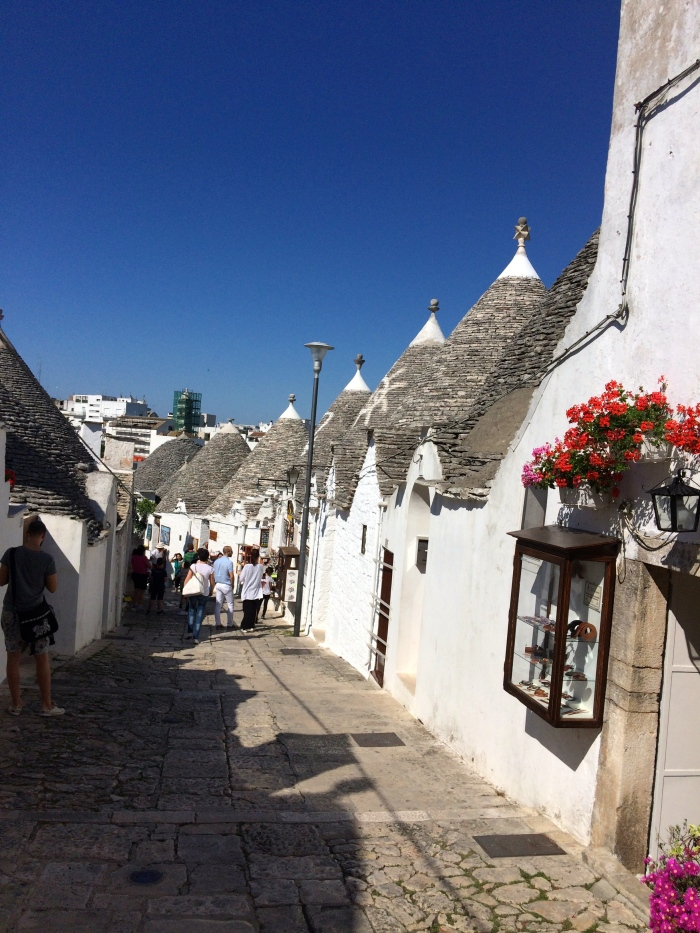 Quiet steet of trulli in Alberobello