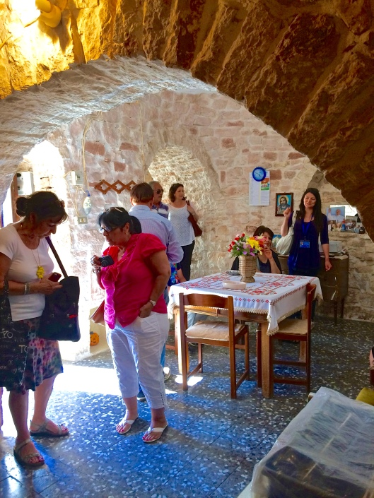 Inside the main room of the trullo