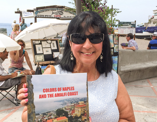 5184 Margie with book Positano
