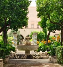 "Naples: Santa Chiara has a ""Secret Garden"" of Majolica Tiles"