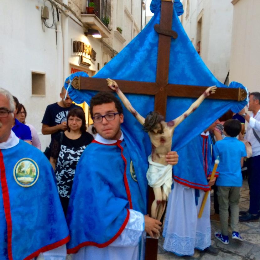 A Summer Religious Procession in Polignano a Mare,Italy